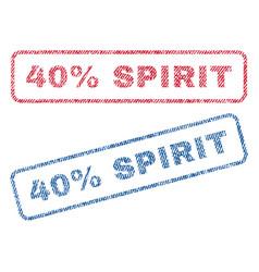 40 percent spirit textile stamps vector