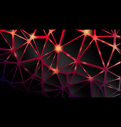 abstract background cracked black triangle shape vector image