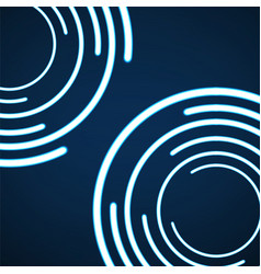 abstract background of glowing circles vector image