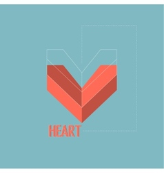 Abstract background with drawings of the heart vector image