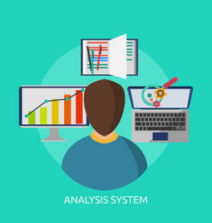 analysis system conceptual design vector image