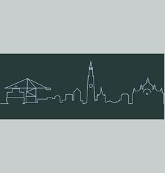 Antwerp single line skyline vector