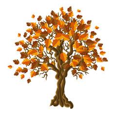 Autumn tree vector