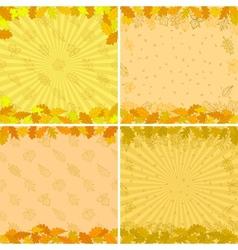Background autumn leaves set vector image