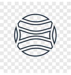 ball concept linear icon isolated on transparent vector image