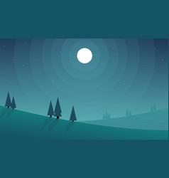 Bauty landscape for game background style vector