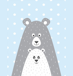 bear and the little bear vector image
