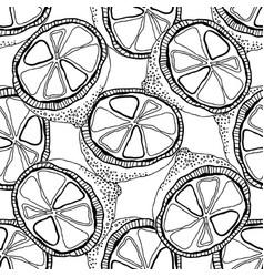 Black and white lemons for coloring books vector
