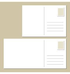 Blank postcard vector image