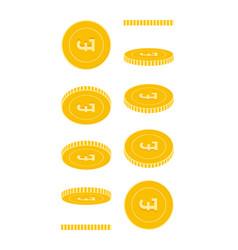 British pound coins set animation ready vector