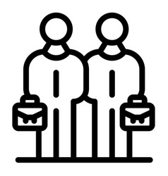 Business partners icon outline style vector