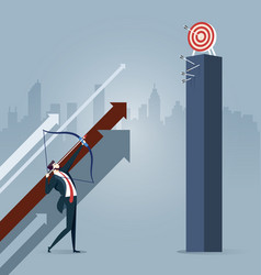 Businessman aiming the target vector