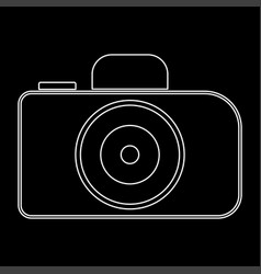 camera the white path icon vector image