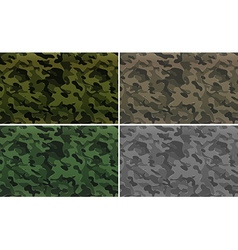Camouflage pattern with military theme vector