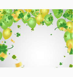 celebration happy st patricks day lettering on vector image