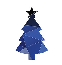 Christmas tree icon Abstract Triangle vector image