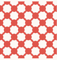 circles mesh geometric seamless red grid pattern vector image