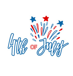 classic holiday lettering series happy 4th vector image