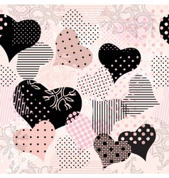 collage of hearts vector image