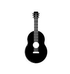 Contour guitar musical instrument to play music vector