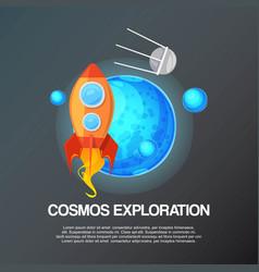 cosmos exploration banner vector image