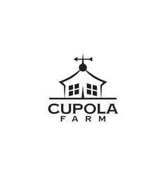 Cupola farm logo design icon template vector