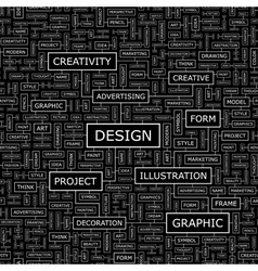 design word cloud concept graphic tag collection vector image