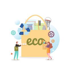 Eco bag concept for web banner website vector