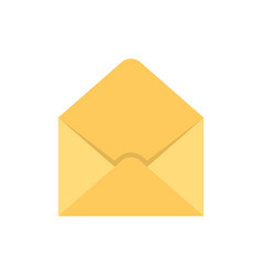empty envelope flat icon vector image