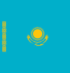 flag of kazakhstan official colors and proportions vector image