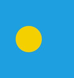 Flag republic palau flat style vector