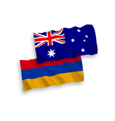 Flags australia and armenia on a white vector