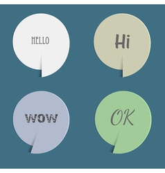 Four paper speech bubbles vector image