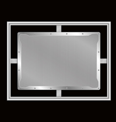 frame of metal on aluminium plate vector image