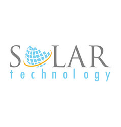 Globe solar technology logo vector