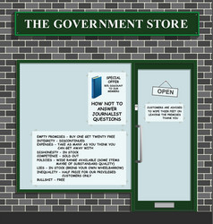 Government store vector