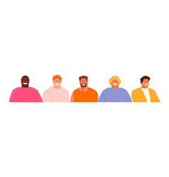 Guys avatars collection vector
