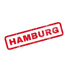Hamburg text rubber stamp vector