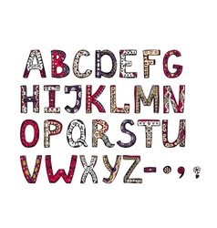 hand drawn ornamental alphabet vector image vector image