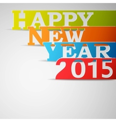Happy New Year 2015 Paper Strips vector image