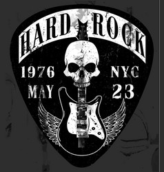 hard rock music poster vector image