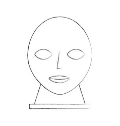head sculpture museum icon vector image