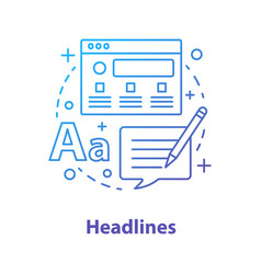 Headlines concept icon vector