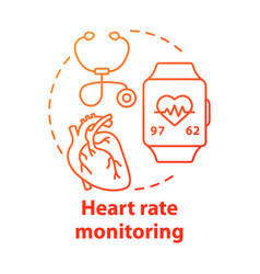 heart rate control tools concept icon vector image