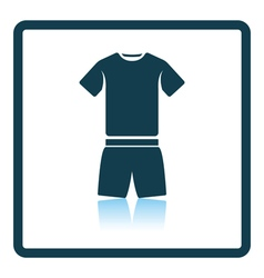 Icon of Fitness uniform vector image