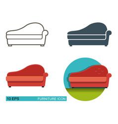 icons sofa vector image