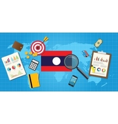 laos economy economic condition country with graph vector image