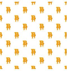 Letter b from honey pattern vector