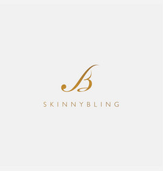 Logo with initials bs letter is modern vector