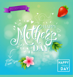 Mom i love you mothers day graphic elements vector